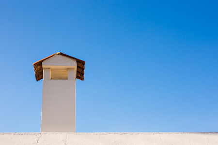 Chimney stack and roofing on the new building Stock Photo