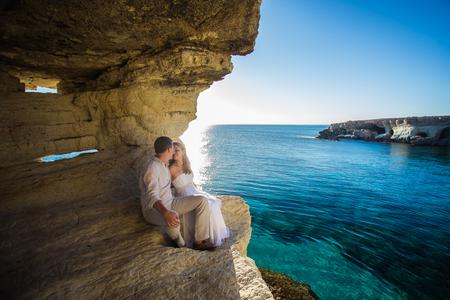 Paar Liefde Beach Romance Samenhorigheid Concept