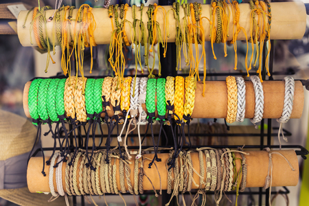 personal ornaments: Homemade bracelets in the shop