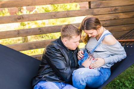 two people fertility: Pregnant woman with husband