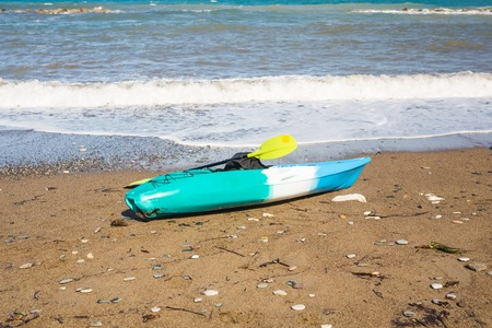 kayak on the tropical beach. Active water sport concept Stock Photo