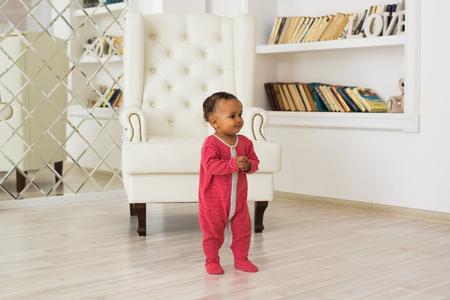 Happy Mixed Race Toddler Boy Stock Photo