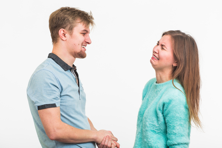 Woman crying after relationship difficulties with husband