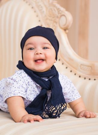 Portrait of a cute newborn baby Stock Photo