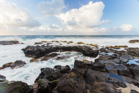 Beautiful Atlantic ocean coast with rocks and stones - Tenerife, Canary islands, Spain.