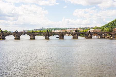 PRAGUE, CZECH REPUBLIC - JUNE 7, 2017: Prague Vltava River