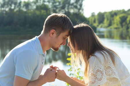 Divorce, fight and relationship problem - Young couple angry at each other