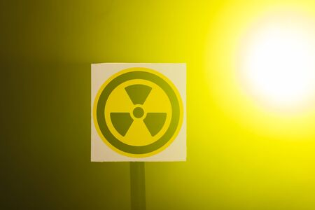 Radioactivity and sign concept - Radiation hazard sign