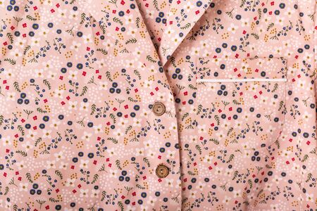 Close-up detail and fabric texture of a pajama. Home wear, sleepwear, shopping and sale concept.