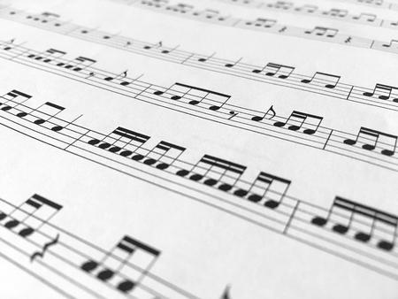 Music notes background Standard-Bild - 118740403