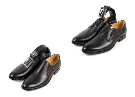 Businessman accessories. Men's style. Men's Accessories: Men's butterfly, Men's shoes. Set groom Butterfly shoes Belts