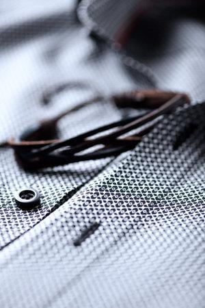 Close up of Men's shirt.