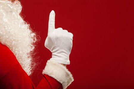 ?  ?      ?  ?     ?  ?    ?  ? gloves: Foto de Santa Claus mano enguantada en el gesto que apunta