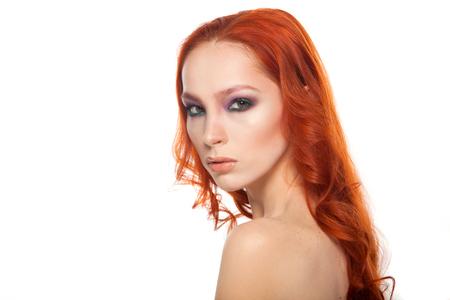 Lange rote haare abschneiden