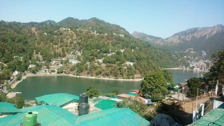 Nainital lake at Uttarakhand.Amazing view from city