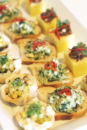 appetizers menu: Summer Fresh Canapes