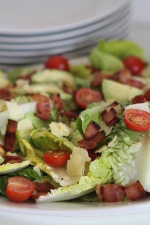 romaine: Romaine Lettuce Bacon Tomato Salad