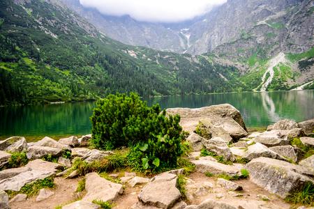Beautiful Morskie Oko, High Tatra Mountains, Poland Stock Photo