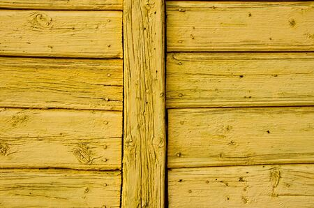 Old wooden painted wall architectural backdrop. Nails and old boards. Stock Photo - 11567207