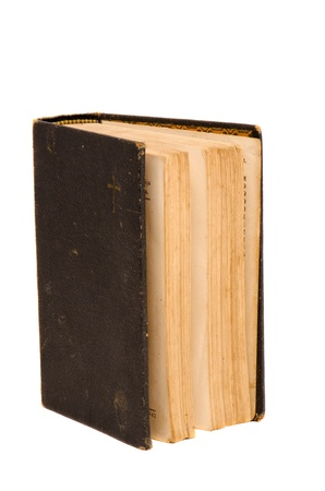 Ancient vintage retro book isolated on white background   Stock Photo