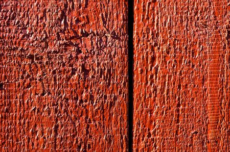 Background of wooden board plank wall painted red  Wood surface textures