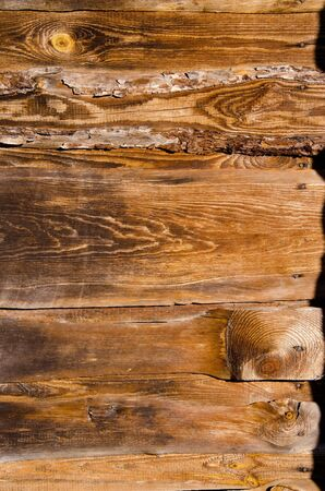 Fragment of old building wall made of wooden planks Stock Photo - 13906451