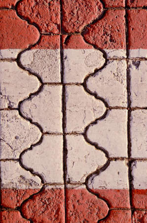 Wall fragment built of intresting bricks  Architectural background