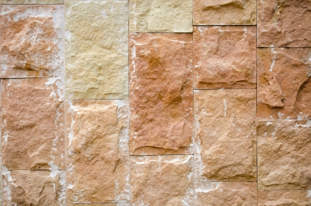 Background of decorative ceramic brick wall. Architecture detail.  photo