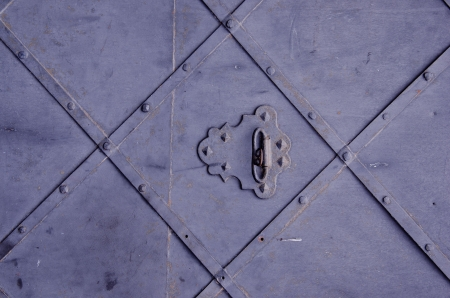 Background of ancient metal door textures and ornaments Stock Photo - 15469269