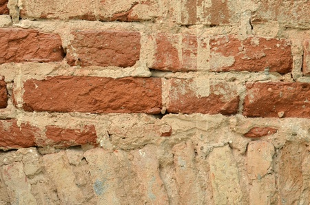 requires: ancient vintage brick wall requires repair background closeup