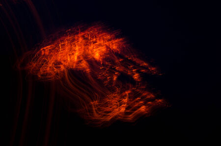 pretty miraculous image of the fire spark formed in the dark of night