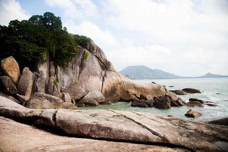 large rocks: large rocks washed by the ocean in Thailand