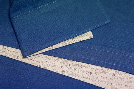 sleeve: part of the sleeve blue linen shirts with funny insert