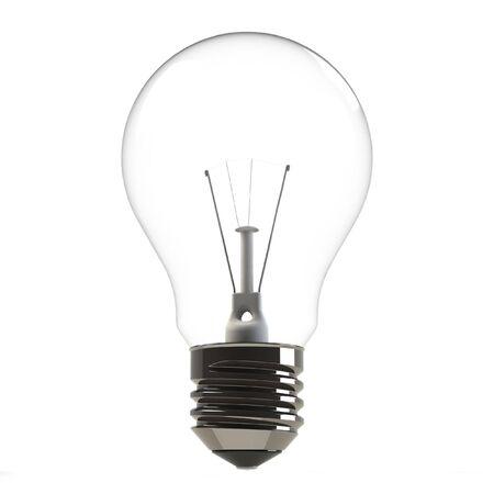 Rendered light bulb