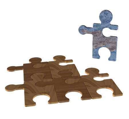 Jigsaw puzzle abstract