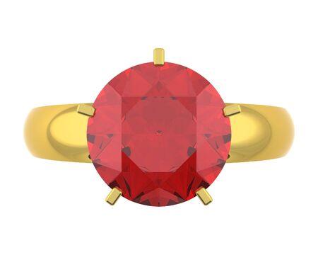 computer generated golden diamond ring