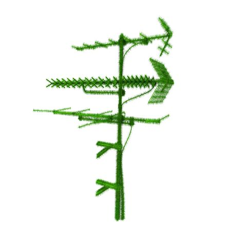 television aerial: Antenna covered with grass