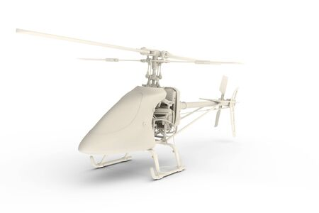 Rendered 3D toy helicopter Stock Photo