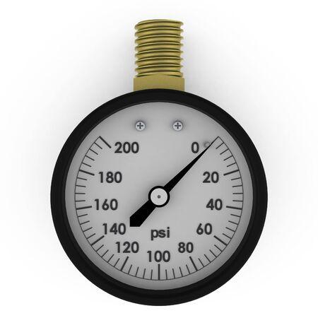 Rendered pressure gauge