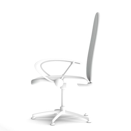 Rendered 3d white chair