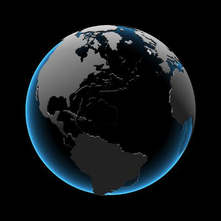 Globe (3D xray blauw transparant)