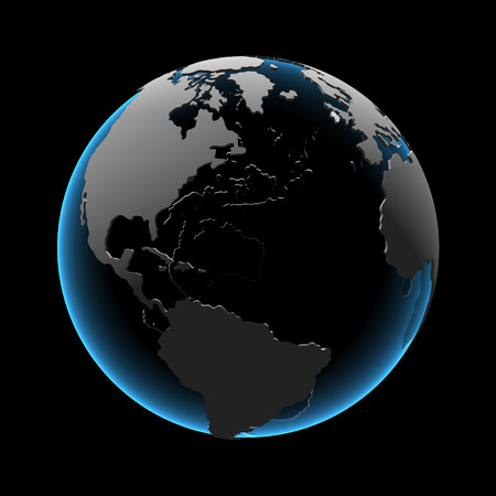 Globe (3D xray blue transparent)