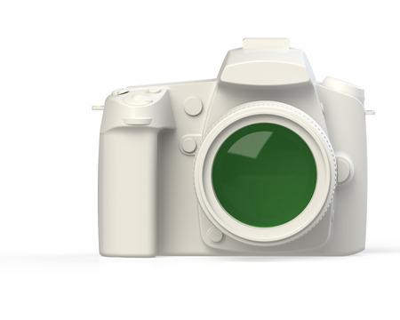 capture: Profesional DSLR Photo Camera Stock Photo