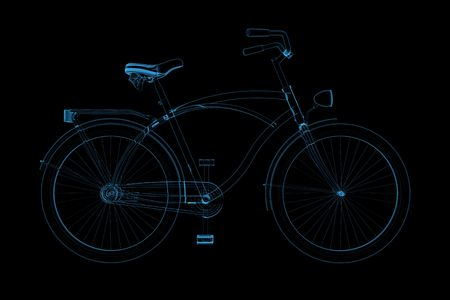Bike 3D X-Ray Blue Transparent