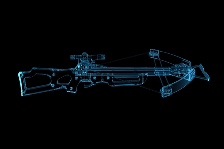 crossbow: Crossbow  3D xray blue transparent