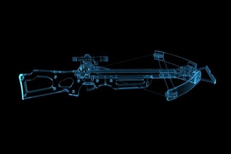 arbalest: Crossbow  3D xray blue transparent