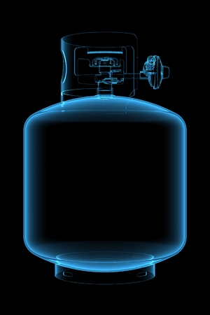 Propane tank  3D xray blue transparent  Stock Photo - 26118684