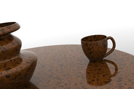 Table and cup