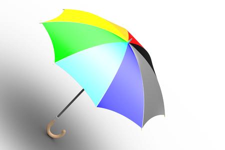 Umbrella  unfolded, ranbow colored  photo