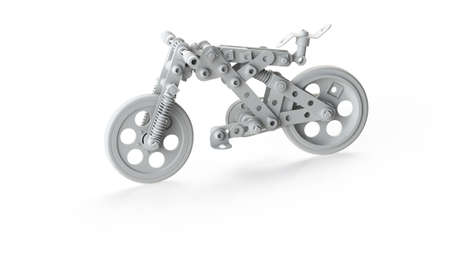 Toy Bicycle made of constructor